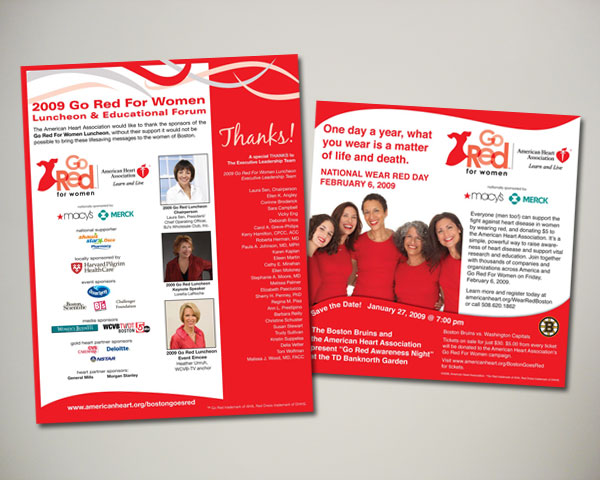 go red for women ad design
