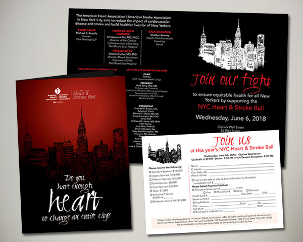 american heart association heart challenge VIP silent auction invitation