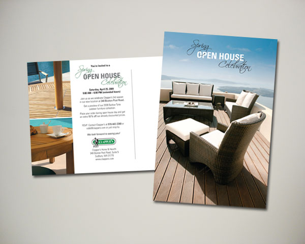 clappers patio furniture postcard