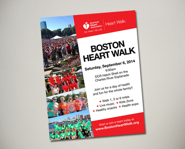 boston heart walk poster design