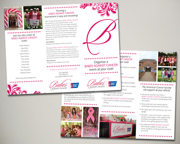babes against cancer fundraising brochure