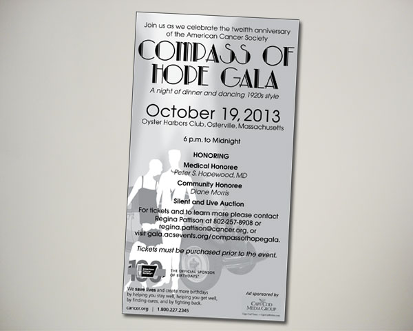 compass of hope gala ad