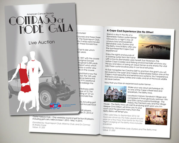 compass of hope gala auction book