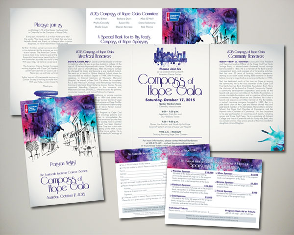 non profit compass of hope gala invitation