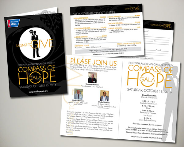 cancer society non profit compass of hope gala invitation