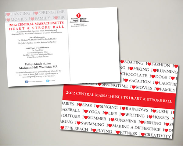 central ma heart stroke ball save the date postcard