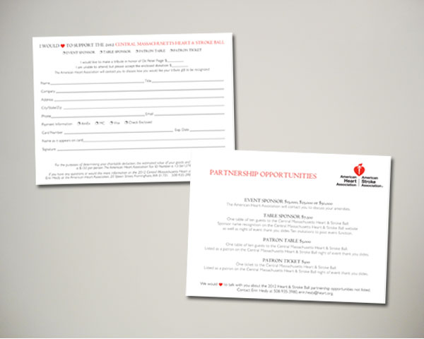 central ma heart stroke ball reply card