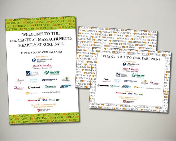 central ma heart stroke ball signage