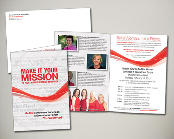 go red for women luncheon invitation