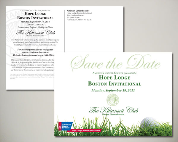 golf invitational save the date postcard