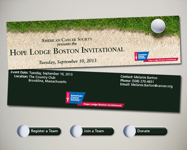 golf invitational web graphics