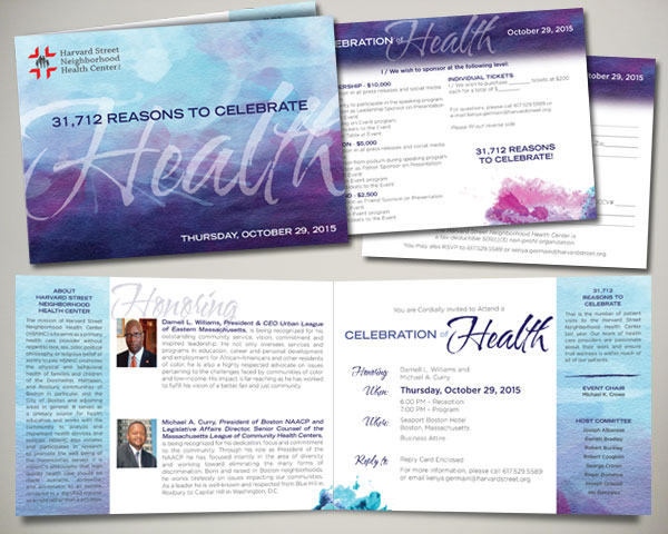 non profit harvard street health center gala invitation