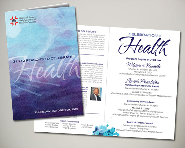 non profit harvard street health center gala program