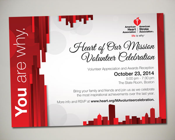 heart of our mission non profit invitation design