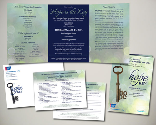 key gala invitation design