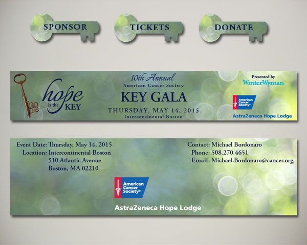 key gala website graphics design