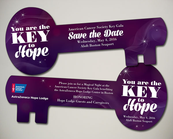 key gala save the date non profit design