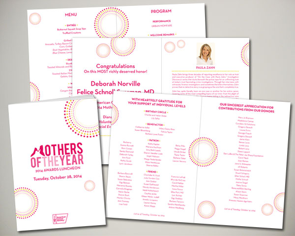 mothers of the year non prfit luncheon program book