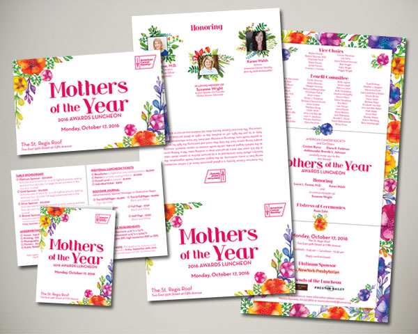 cancer society mothers of the year non profit luncheon nyc invitation