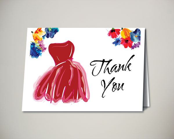 garden state go red for women luncheon thank you card