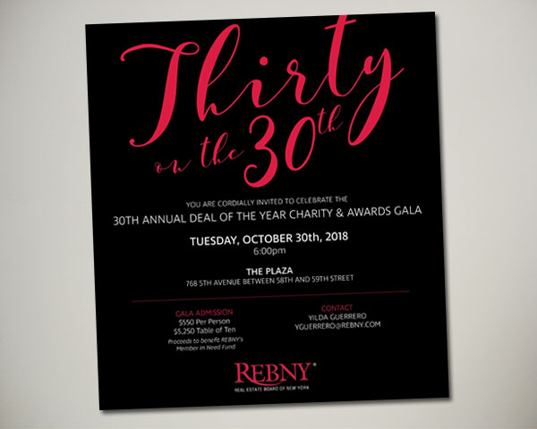 REBNY deal of the year thirty on 30th nonprofit nyc ad design